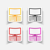 Realistic design element: monitor, keyboard — Stock Vector