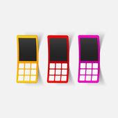 Realistic design element: mobile phone — Stock Vector