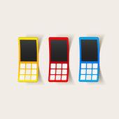 Realistische ontwerpelement: mobiele telefoon — Vetorial Stock