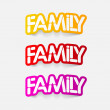 Realistic design element:family — Stock Vector