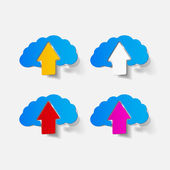 Realistic design element: brain, arrow — Stock Vector