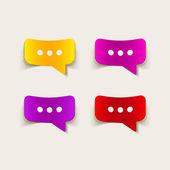 Realistic design element: bubble, speech — Stock Vector