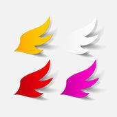 Realistic design element: wing — Stock Vector