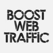 Realistic design element: boost web traffic — Vettoriale Stock