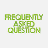 Realistic design element: frequently asked question — Stock Vector