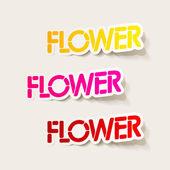 Élément de conception réaliste : fleur — Vecteur