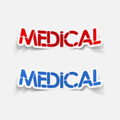 Realistic design element: medical — Stock Vector