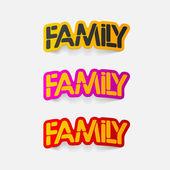 Realistic design element:family — Stock Vector