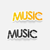 Realistic design element: music — Stock Vector