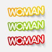 Realistic design element: woman — Stock Vector
