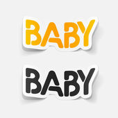 Realistic design element: baby — Stock Vector