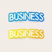 Реалистка(ст) дизайн элемент: Бизнес — Cтоковый вектор