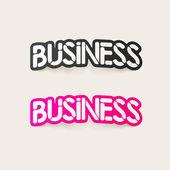 Elemento de design realista: negócios — Vetor de Stock