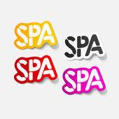 Realistic design element: spa — Stock Vector
