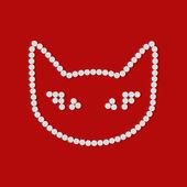Pill, tablet, cat — Stock Vector