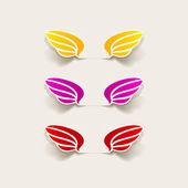 Realistic design element: wing — Cтоковый вектор
