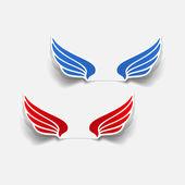 Realistic design element: wing — Stok Vektör