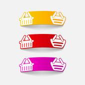 Realistic design element: food basket — Stock Vector