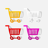 Realistic design element: grocery cart — Stock Vector