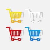 Realistic design element: grocery cart — Stockvektor