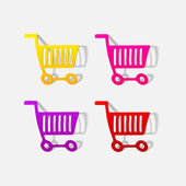 Realistic design element: grocery cart — Vettoriale Stock