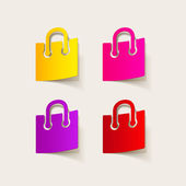 Realistic design element: grocery bags — Vettoriale Stock