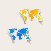 Elemento de diseño realista: mapa — Vector de stock