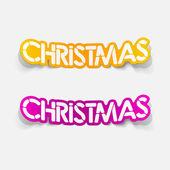Realistic design element: christmas — Stock Vector