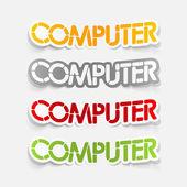 Realistische ontwerpelement: computer — Stockvector