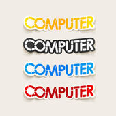 Realistic design element: computer — Stock Vector