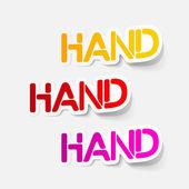 Realistic design element: hand — Stock Vector