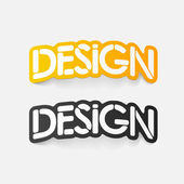 Realistic design element: design — Stock Vector
