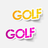 Realistic design element: golf — Stock Vector