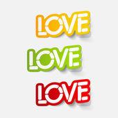 Realistic design element: love — Stock Vector