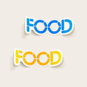 Realistic design element: food — Stock Vector