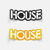 Realistic design element: house — Stock Vector
