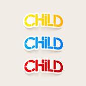 Realistic design element: child — Stock Vector