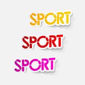 Realistic design element: sport — Stock Vector