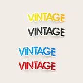 Realistic design element: vintage — Stock Vector