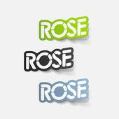 Realistic design element: rose — Stock Vector