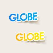 Realistic design element: globe — Stock Vector
