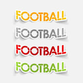 Realistic design element: football — Stock Vector