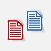 Realistic design element: paper, a4 — Stock Vector