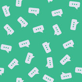 Seamless background: bubble, speech, cloud — Stock Vector