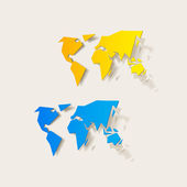 Realistic design element: map — Stock Vector