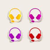 Realistiska designelement: hörlurar — Stockvektor