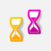 Realistic design element: hourglass — Stock Vector
