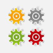 Realistic design element: cogwheel — Stock Vector