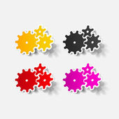 Realistic design element: cogwheel — Stock Vector
