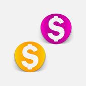 Realistic design element: money — Stock Vector